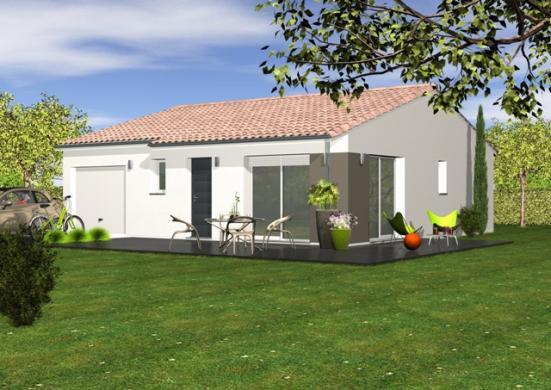 Maison+Terrain à vendre .(95 m²)(PARENTIS EN BORN) avec (Les demeures de la côte d Argent)