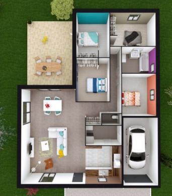 Maison à vendre .(120 m²)(SOLFERINO) avec (Les demeures de la côte d Argent)