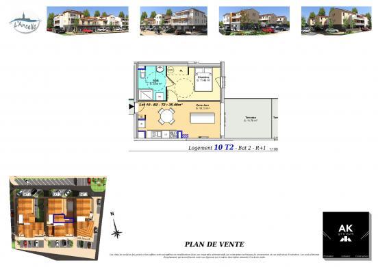 Maison à vendre .(36 m²)(CLEON D'ANDRAN) avec (MAISON DU DAUPHINE)