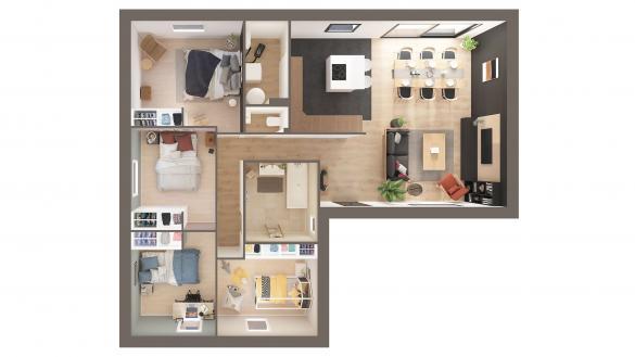 Maison+Terrain à vendre .(100 m²)(QUITTEBEUF) avec (Maison Castor Evreux)