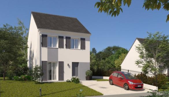 Maison à vendre .(80 m²)(TREMBLAY EN FRANCE) avec (HABITAT PAR COEUR)