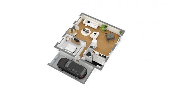 Maison+Terrain à vendre .(83 m²)(SURVILLIERS) avec (MAISONS COM)