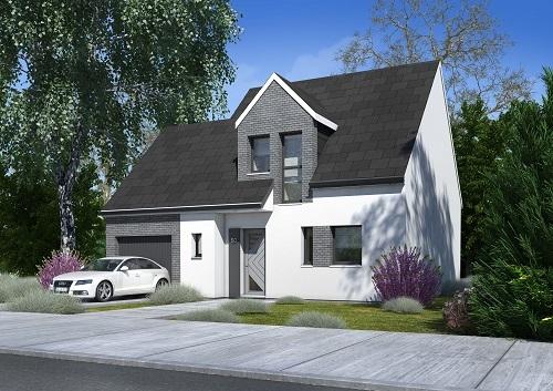 Maison+Terrain à vendre .(89 m²)(OZOIR LA FERRIERE) avec (MAISONS COM)