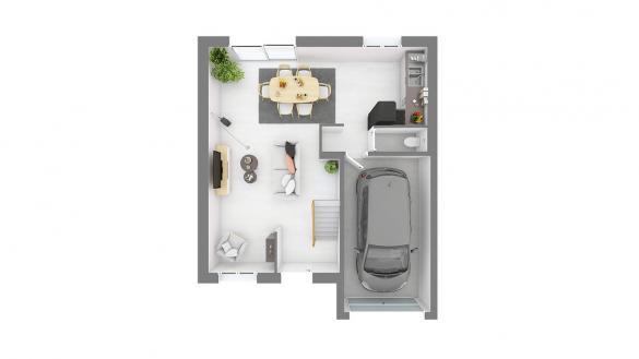 Maison+Terrain à vendre .(86 m²)(ECQUEVILLY) avec (MAISONS COM)