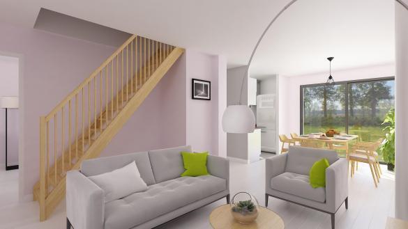 Maison+Terrain à vendre .(105 m²)(ESTREES SAINT DENIS) avec (MAISONS COM)