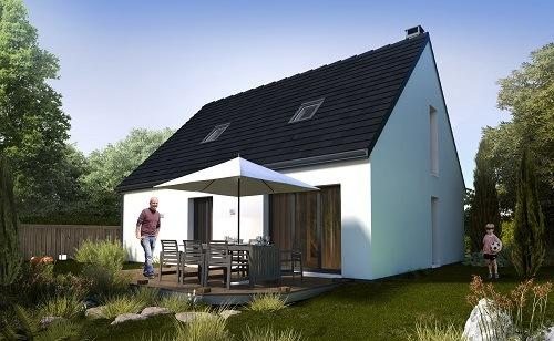 Maison+Terrain à vendre .(110 m²)(CHATEAU THIERRY) avec (MAISONS COM)