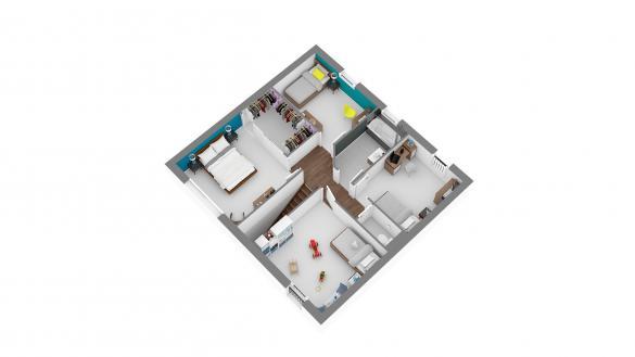 Maison+Terrain à vendre .(129 m²)(CHATEAU THIERRY) avec (MAISONS COM)