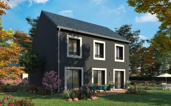 Maison+Terrain à vendre .(114 m²)(ESTREES SAINT DENIS) avec (MAISONS COM)