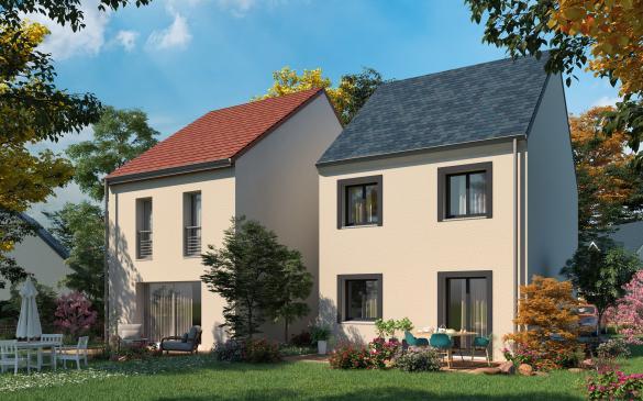 Maison+Terrain à vendre .(81 m²)(ESTREES SAINT DENIS) avec (MAISONS COM)