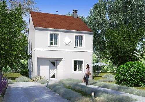 Maison+Terrain à vendre .(105 m²)(VAUJOURS) avec (MAISONS COM)
