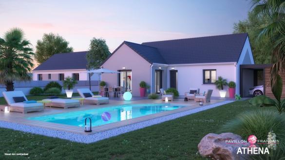 Terrain à vendre .(341 m²)(LIVERDY EN BRIE) avec (LE PAVILLON FRANCAIS)