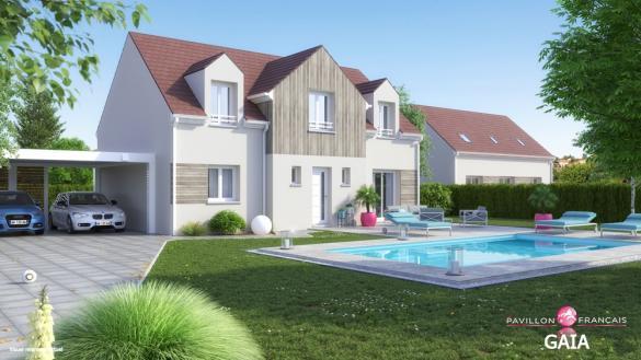 Terrain à vendre .(1105 m²)(MAREIL SUR MAULDRE) avec (LE PAVILLON FRANCAIS)