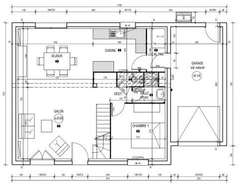 Maison à vendre .(90 m²)(CORMERY) avec (MAISON LE MASSON TOURS)