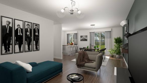 Maison+Terrain à vendre .(87 m²)(BOISSY SOUS SAINT YON) avec (MAISONS COM)