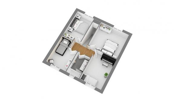 Maison+Terrain à vendre .(103 m²)(LE COUDRAY MONTCEAUX) avec (MAISONS COM)