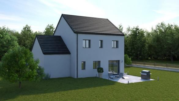 Maison+Terrain à vendre .(103 m²)(CHAMPDEUIL) avec (MAISONS COM)