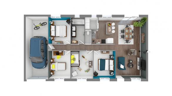 Maison+Terrain à vendre .(95 m²)(AUBEPIERRE OZOUER LE REPOS) avec (MAISONS COM)