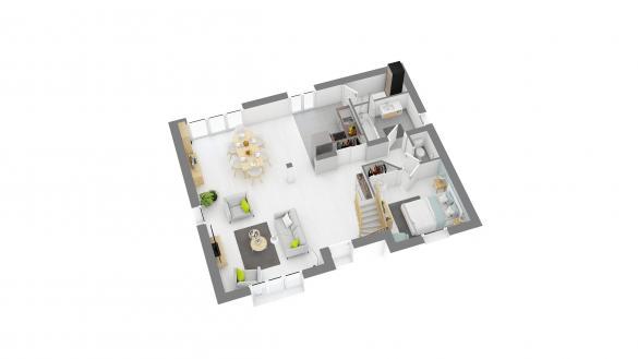 Maison+Terrain à vendre .(110 m²)(D'HUISON LONGUEVILLE) avec (MAISONS COM)