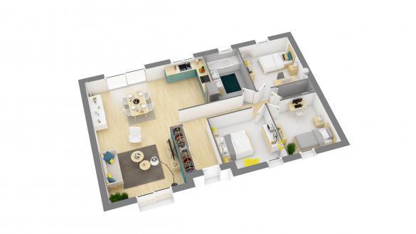 Maison+Terrain à vendre .(95 m²)(VOINSLES) avec (MAISONS COM)