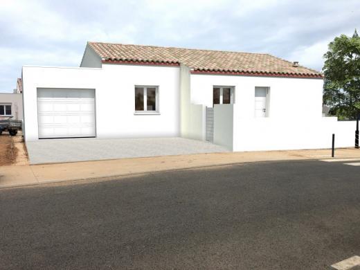 Maison+Terrain à vendre .(90 m²)(MONTBLANC) avec (MAISONS LACIN)