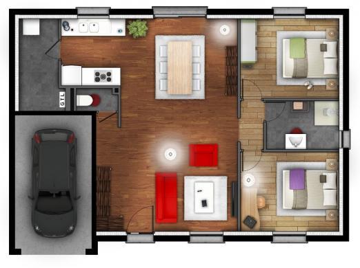 Maison+Terrain à vendre .(80 m²)(BUCHY) avec (MAISONS EXTRACO)