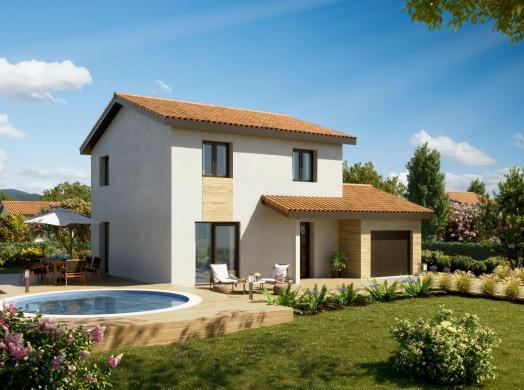 Maison+Terrain à vendre .(94 m²)(ESTRABLIN) avec (MAISONS PUNCH)