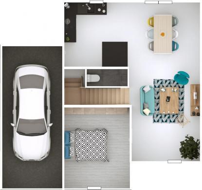 Maison+Terrain à vendre .(91 m²)(LAGNIEU) avec (MAISONS PUNCH AMBERIEU)