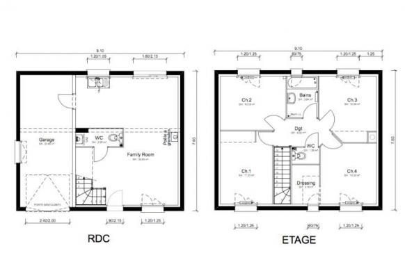 Maison+Terrain à vendre .(90 m²)(LAGNIEU) avec (MAISONS PUNCH AMBERIEU)