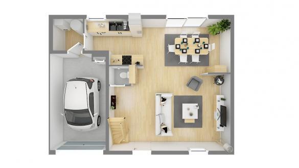 Maison+Terrain à vendre .(84 m²)(BRUAY LA BUISSIERE) avec (Maisons Phénix Gavrelle)