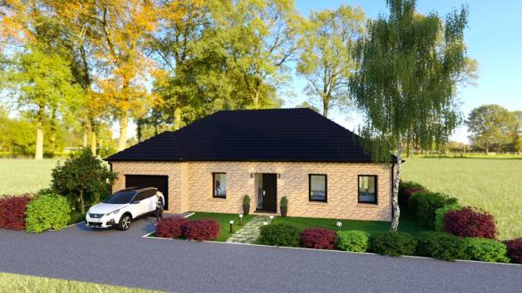 Maison+Terrain à vendre .(110 m²)(MARESCHES) avec (Maison Familiale-59121-PROUVY)