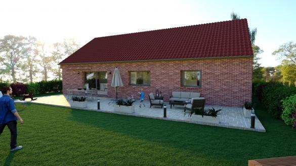 Maison+Terrain à vendre .(110 m²)(CAMBRAI) avec (Maison Familiale-59121-PROUVY)