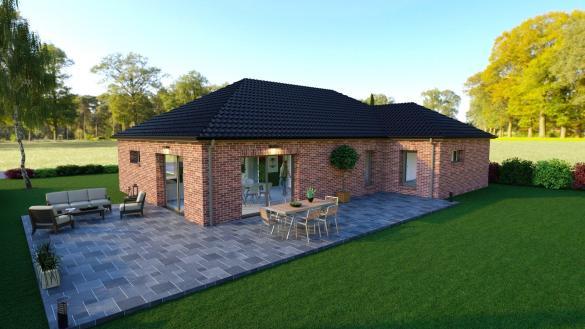 Maison+Terrain à vendre .(119 m²)(VILLEREAU) avec (Maison Familiale-59121-PROUVY)