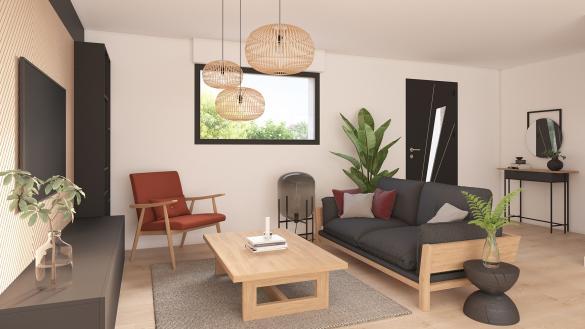 Maison+Terrain à vendre .(100 m²)(COURRIERES) avec (Maison Castor Lens)