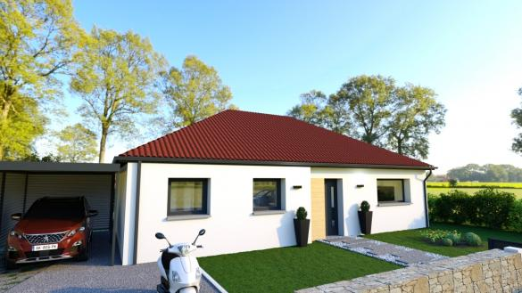 Maison+Terrain à vendre .(98 m²)(BREBIERES) avec (Maison Castor Lens)