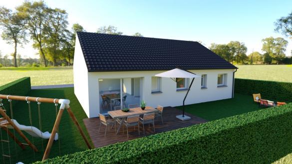Maison+Terrain à vendre .(98 m²)(HAILLICOURT) avec (Maison Castor Lens)