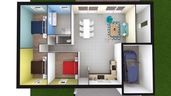 Maison+Terrain à vendre .(98 m²)(ARLEUX) avec (Maison Castor Lens)