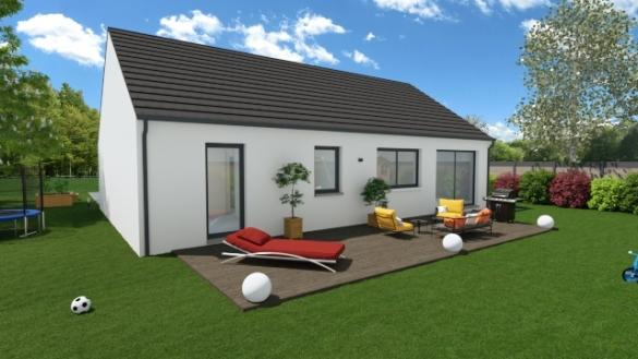 Maison+Terrain à vendre .(89 m²)(REBECQUES) avec (Maisons Phénix Wizernes)