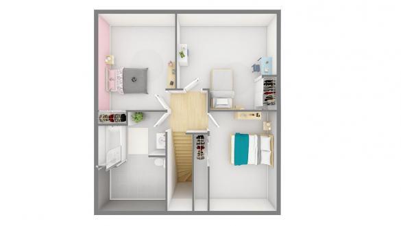 Maison+Terrain à vendre .(83 m²)(MILLAM) avec (Maisons Phénix Wizernes)