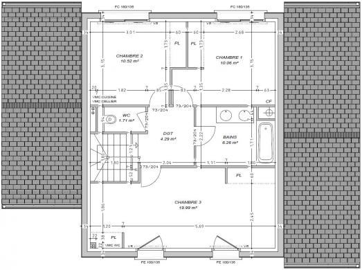 Maison+Terrain à vendre .(133 m²)(CAEN) avec (MAISON FAMILIALE CAEN)