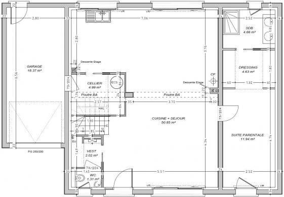 Maison+Terrain à vendre .(133 m²)(COLLEVILLE MONTGOMERY) avec (MAISON FAMILIALE CAEN)