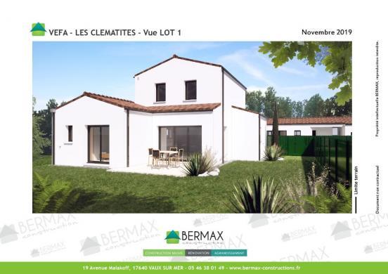 Maison+Terrain à vendre .(99 m²)(SAINT PALAIS SUR MER) avec (BERMAX CONSTRUCTION)