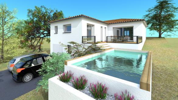 Maison+Terrain à vendre .(105 m²)(MONTASTRUC LA CONSEILLERE) avec (VILLAS SUD CREATION)