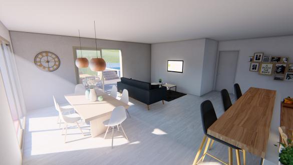 Maison+Terrain à vendre .(129 m²)(SAINT GENIES BELLEVUE) avec (SAS VILLAS SUD CREATION)
