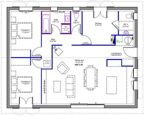 Maison à vendre .(90 m²)(ASCAIN) avec (MAISONS CONFORECO)
