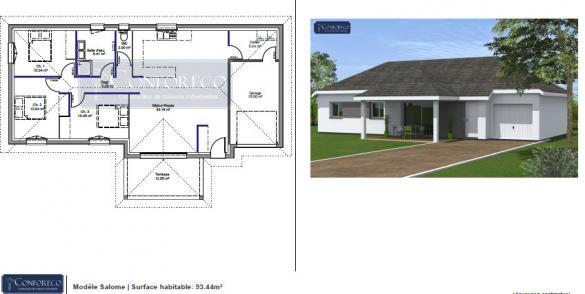 Maison à vendre .(93 m²)(BALIROS) avec (MAISONS CONFORECO)