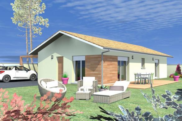 Maison à vendre .(90 m²)(CAGNOTTE) avec (MAISONS CONFORECO)
