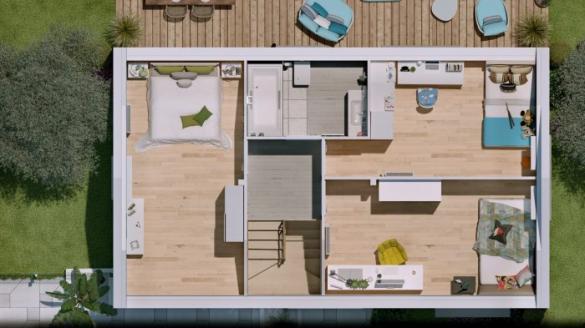 Maison à vendre .(90 m²)(RUSTENHART) avec (HOMELINES)