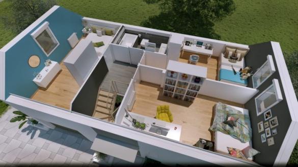 Maison à vendre .(90 m²)(VOLGELSHEIM) avec (HOMELINES)