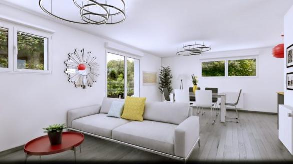 Maison à vendre .(90 m²)(LEYMEN) avec (HOMELINES)