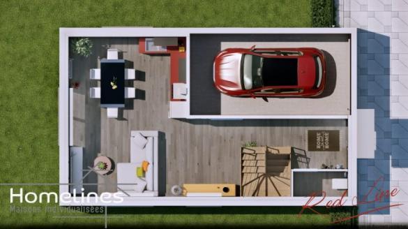 Maison à vendre .(90 m²)(LARGITZEN) avec (HOMELINES)